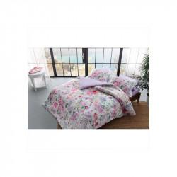 Постельное белье семейное Tac сатин Digital - Ariella pembe розовый