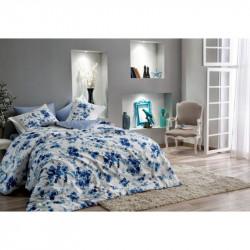 Постельное белье семейное Tac сатин Digital - Farida lacivert синий