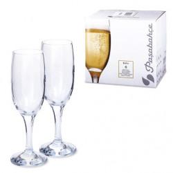 Набор бокалов для шампанского 190 мл - 6 шт Бистро Pasabahce 44419
