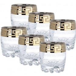 """Набор стаканов для виски 305 мл """"Греческий узор"""" Гусь хрустальный GE03-415"""