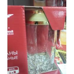 """Набор стаканов для виски 390 мл """"Ампир"""" Гусь хрустальный EAV79-812"""
