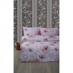 Постельное белье полуторное Lotus Ranforce - Patsy розовый