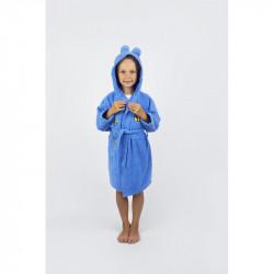 Халат махровый детский Lotus Teddy Bear 1-2 года синий