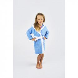 Халат махровый детский Lotus Зайка 10-12 лет голубой