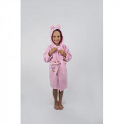 Халат махровый детский Lotus Teddy Bear 1-2 года розовый