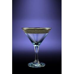 Бокалы для мартини 250мл/6шт (Бистро) декор Золотой карат GK22-410
