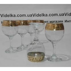"Бокалы для вина 260мл ""Греческий узор"" Гусь хрустальный EAV03-411"