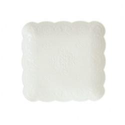 Тарелка обеденная 24см Astera Paradise White