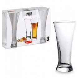Набор бокалов для пива 500 мл 3 шт Pub Pasabahce 41886