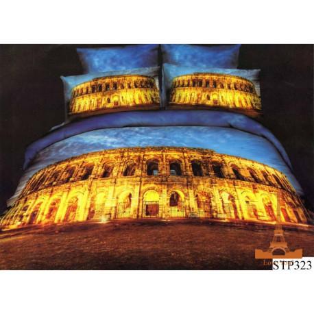 Постельное белье евро 3D Love you Колизей city7
