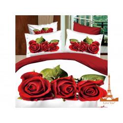 Постельное белье семейное 3D Love you Любовь stp 344