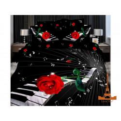 Постельное белье семейное 3D Love you Мелодия stp 215