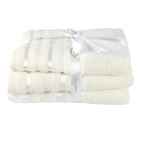 Полотенце махровое 1шт 100х150 Hobby - Nisa молочный