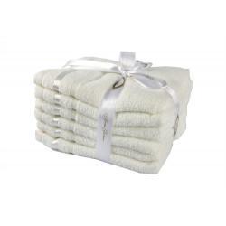 Набор полотенец махровых 6шт 30х50 Hobby - Nisa молочный