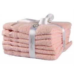 Набор полотенец махровых 6шт 30х50 Hobby - Nisa пудра