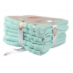 Набор полотенец махровых 6шт 30х50 Hobby - Nisa светло-бирюзовый