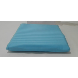 Простынь на резинке 160х200+25 Lotus Отель - Сатин Страйп 1х1 голубой