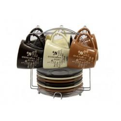 Сервиз чайный на стойке 12пр Кофе 150700031