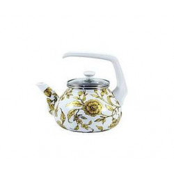 Чайник эмалированный 2,2л Interos Золотое кружево 15170