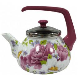 Чайник эмалированный 2,2л Interos Пион 2545