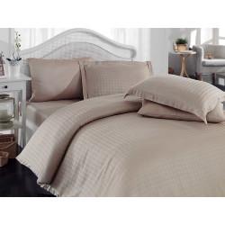 Комплект постельного белья евро Hobby Bamboo - Diamond Houdstooth бежевый
