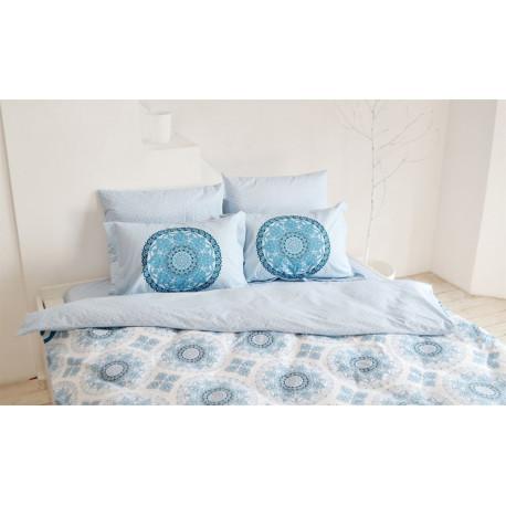Постельное белье семейное Hobby Poplin Silvana голубой