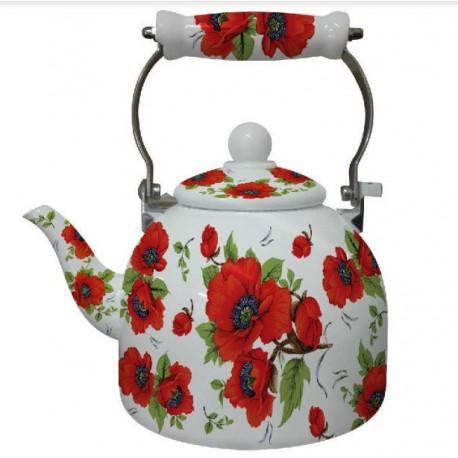 Чайник эмалированный 2л Interos 9 L  RED