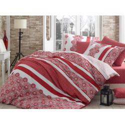 Постельное белье семейное Hobby Exclusive Sateen Lisa красный