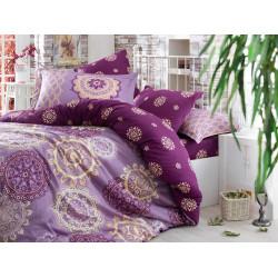 Постельное белье семейное Hobby Exclusive Sateen Ottoman фиолетовый