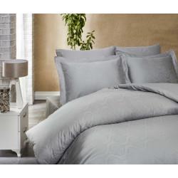 Постельное белье евро LightHouse Exclusive Sateen Jacquard серый