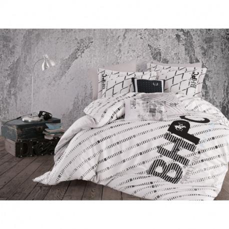 Постельное белье евро Beverly Hills Polo Club - BHPC 016 Black
