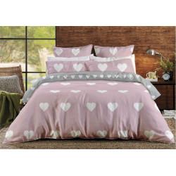 Постельное белье двуспальное ТЕП BalakHome 004 Pink Love Hearts