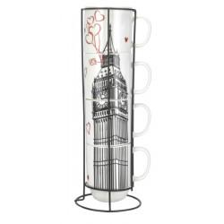 Набор кружек на стойке 420 мл Limited Edition London B1163-09359-2