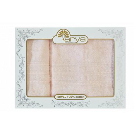Набор полотенец махровых 50х90+70х140 Arya - Alice персиковый