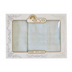 Набор полотенец махровых 50х90+70х140 Arya - Alice мятный