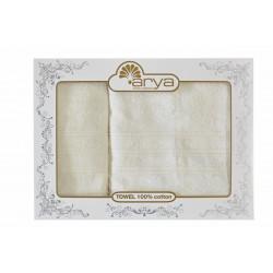 Набор полотенец махровых 50х90+70х140 Arya - Alice экрю
