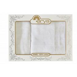 Набор полотенец махровых 50х90+70х140 Arya - Alice белый