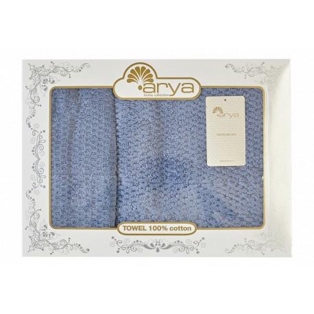 Набор полотенец махровых 50х90+70х140 Arya - Arno голубой