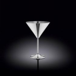 Бокал для мартини 300мл Wilmax St.Steel Silver WL-552304