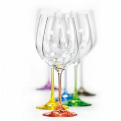 Набор бокалов для вина 450 мл Bohemia Viola Rainbow