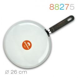 Сковорода блинная 26см Granchio Crepe белая 88275