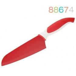 Нож Granchio сантоку красный 88674