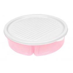 Контейнер для еды 3х400мл Bager Pink BG-393 Р
