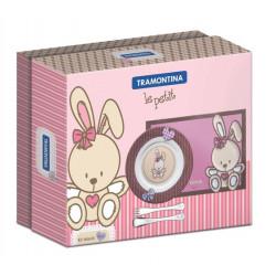 Набор детский 4 пр Tramontina Baby Le Petit Pink 64250/685