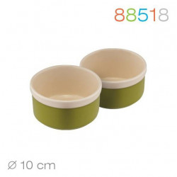 Набор кокотниц 2шт Natura Oliva Green Ceramica Granchio 88518