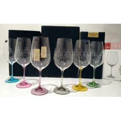 Набор бокалов для вина 550 мл Bohemia Viola Rainbow 40729 550S K0568