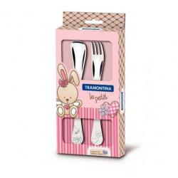 Набор столовых приборов 2 пр Tramontina BABY Le Petit pink 66973/015