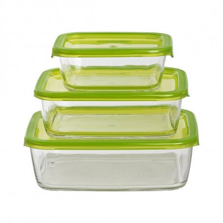 Набор емкостей для еды прямоугольных 3пр Luminarс Keep'n'Box G8641