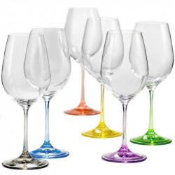 Бокалы для вина Bohemia Rainbow 350 мл-6шт