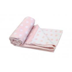 """Одеяло-плед детское 100х140см Vladi """"Горох"""" розовый"""